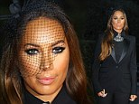 TuX Factor! Leona Lewis steps out in androgynous black trouser suit with heavily bejeweled neckline for performance at World Music Awards