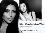 Meet Mrs West! Kim Kardashian changes her name on Instagram and Twitter while still in Ireland on her honeymoon with Kanye