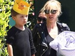 Hollywood's cool kids! Kimberly Stewart and adorable daughter Delilah show that they are rock royalty inside and out