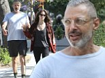 Their love has legs! Jeff Goldblum displays lanky limbs after a workout with much younger girlfriend Emilie Livingston