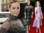 Emily Blunt showcases her post-pregnancy figure with sexy leather ensemble in Paris as she attends SECOND Edge of Tomorrow premiere