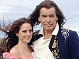 Co-stars: Pierce Brosnan took to his Instagram account to heap praise on his co-star Kaya Scodelario, while they were dressed in character as Louis XiIV and his illegitimate daughter for upcoming film The Moon And The Sun