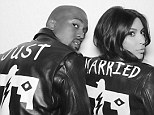 Kim Kardashian and Kanye West's matching 'Just Married' customized leather jackets were made by BLK DNM