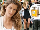 Gisele Bundchen gets glam in mini-dress and diamonds on the Manhattan set of Baz Luhrmann's Chanel No. 5 commercial