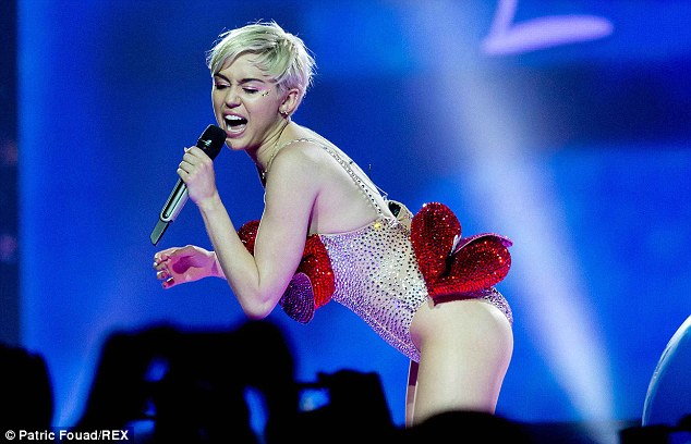 Wearing her heart on her sleeve: Miley's outlandish concerts thrilled her German fans