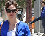 Well they are nice shoes! Jennifer Garner takes a moment to admire her footwear as she steps out for lunch in Los Angeles