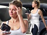 Her own best advert! Wannabe lifestyle guru Cameron Diaz shows off athletic figure in as she leaves gym after workout