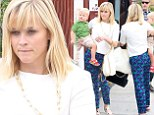 Reese Witherspoon swaps police uniform for patterned trousers at family outing in Brentwood