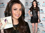 Back to the dark side! Cher Lloyd shows off new brunette locks and her many tattoos in mini-dress while promoting new album