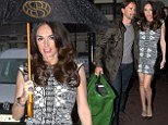 Tamara Ecclestone arrives at Cut restaurant in Park Lane for dinner