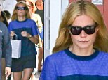 California girl Gwyneth Paltrow displays her lean legs in tiny shorts as she spends Memorial Day hitting the shops in LA