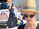 Saucy style: The 36-year-old single mom donned a sexy ensemble to the exclusive star-studded beachfront party she attended in Malibu with her two-year-old son Xander