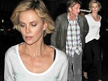 Sean Penn and Charlize Theron enjoy engrossing conversation during dinner date at Japanese restaurant Roka in London