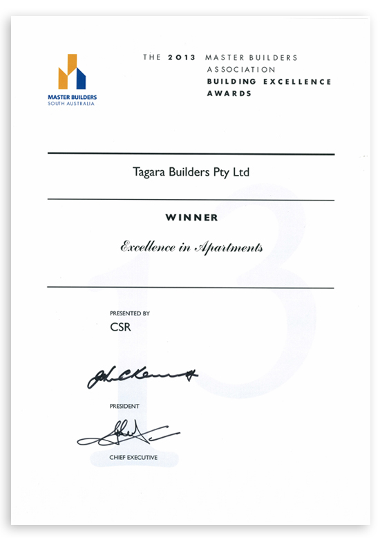 Master Builder's Association Excellence in Apartments Award