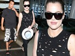 Khloe Kardashian is all smiles as she's dropped off at Miami airport by rumoured beau French Montana... and posts cryptic Instagram about 'crossing lines'
