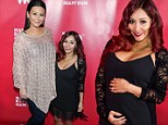 Bumps on parade! Pregnant Snooki is all show in LBD as she joins mom-to-be JWoww at Marriage Boot Camp party