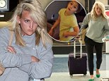 Jamie Lynn Spears looks fed up as she leaves LAX following heavy criticism for posting video of her five-year-old daughter dancing to popular rap song