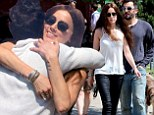 She looks happy to see him! Amber Heard embraces co-star James Franco on set of The Adderall Diaries