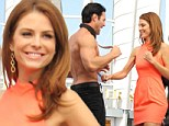 Feeling punchy? Maria Menounos shows her playful side with the sexy and muscly Men Of The Strip on Extra