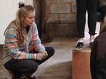 Actress Cressida Bonas in rehearsals at Hay-on-Wye - looking a little down in the mouth