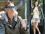 She's no Angel... Behati Prinsloo was seen smoking on set of a photo shoot in New York's West Village neighbourhood on Thursday
