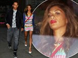 Nicole Scherzinger stuns in colourful striped minidress on dinner date with Lewis Hamilton...after visiting Radio 1 studios with Nick Grimshaw