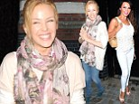 Word has spread Down Under! Kylie Minogue looks pretty in florals as she joins star-studded guests at Chiltern Firehouse... but how did Lizzie Cundy get in?