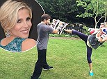 Elsa Pataky kicks butt to maintain her rock hard body just TWO MONTHS after the birth of her twins