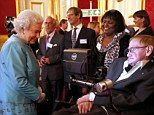 Banter: The Queen joked with Professor Hawking about this synthesised voice, who responded in good humour