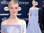 Fit for a princess! Elle Fanning dons fairytale floor length gown for Maleficent world premiere in Hollywood
