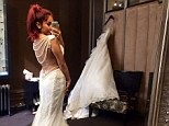 From trashy to classy! Former Jersey Shore party girl Snooki tries on elegant lace wedding gown ahead of October nuptials