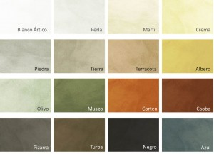 Beton Cire Color Chart
