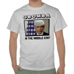 obama tshirt w turban in middle east