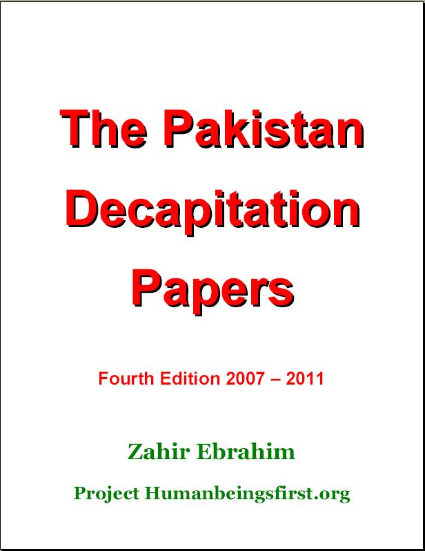 Titlepage Pakistan Decapitation Papers 4th Edition