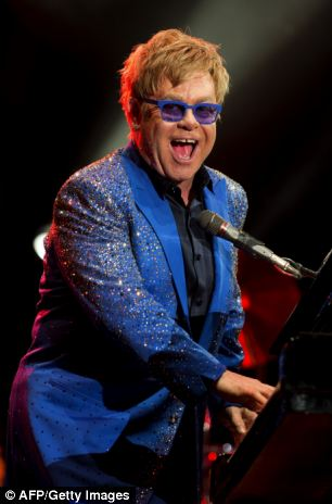 Wildly successful: Elton John, pictured here performing at Gran Parque Central stadium in Montevideo, plays all over the world