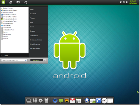 Basic android theme for windows 7 pc