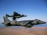 The jet that crashed is an AV-8B Harrier, like the ones pictures here. It's a 1980s-era fighter that is known for its ability to take off and land vertically
