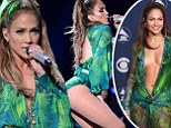 J-Lo revisits the Bronx and THAT Versace dress for homecoming show... after transsexual bikini model linked to Casper Smart speaks out
