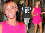 Beyonce shows off her toned legs in pink mini dress while out with Jay-Z ...a day after partying with Solange