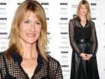 Laura Dern cuts a striking figure in black skirt and crocheted shirt as she promotes magazine cover
