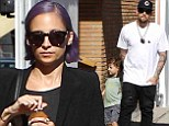 Nicole Richie is menswear chic in baggy jeans and blazer as she enjoys family day out with husband Joel Madden and their children