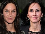 Aging backwards? Courteney Cox, 49, looks 10 years younger as she wears much less makeup during book party date with boyfriend Johnny McDaid