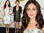Emmy Rossum is demure in floral frock while Keri Russell dons plunging lace dress at Sundance Institute bash