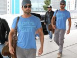 Gerard Butler leaves Sydney after finishing filming in Australia for his latest project