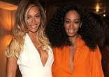 What family feud? Beyonce and Solange Knowles put the incident of Solange attacking her sibling's husband Jay Z behind them to cuddle up at the Chime For Change event in New York