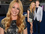 It's more fun with each other! Cat Deeley flashes pins in sparkly shift while cosying up to husband Patrick Kielty as they lead the couples at Glamour Awards