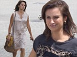 Penelope Cruz arrives to set of Ma Ma with no make-up and messy hair before undergoing a quick transformation