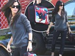 She's not Supermom, she's Spider-Mom! Sandra Bullock looks effortlessly chic as she drops son Louis off at school toting his cute Spider-Man lunchbox