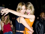 Blabbermouth bestie: Karlie Kloss may have some explaining to do after she broke the girl code and dished on the, for once, non-existent love life of bestie Taylor Swift, pictured May 3