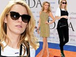 Walk like a man! Blake Lively ditches her stunning designer gown for overalls and black and white wing tip Oxfords